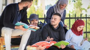 Students of the German language programme at Birzeit University